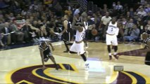 LeBron James hit in the Face by Dion Waiters with violent Pass! NBA Headshot