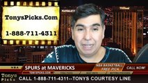 Dallas Mavericks vs. San Antonio Spurs Free Pick Prediction NBA Pro Basketball Odds Preview 12-20-2014