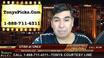 UNLV Rebels vs. Utah Utes Free Pick Prediction NCAA College Basketball Odds Preview 12-20-2014