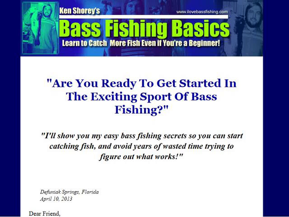 Bass Fishing Basics