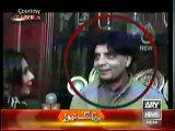 Dr Danish shows clips of Chaudhry Nisar,Look how happily he is smiling.