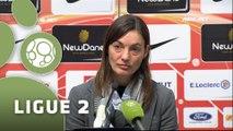 Conférence de presse AS Nancy-Lorraine - Clermont Foot (1-2) : Pablo  CORREA (ASNL) - Corinne DIACRE (CF63) - 2014/2015