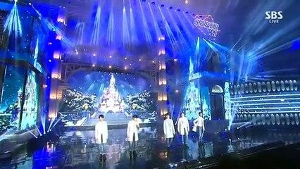 141221 B1A4 X Park Boram  - @ 2014 SBS Gayo Daejun
