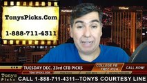 Tuesday College Football Bowls Free Picks Predictions Betting Odds Point Spread Preview 12-23-2014