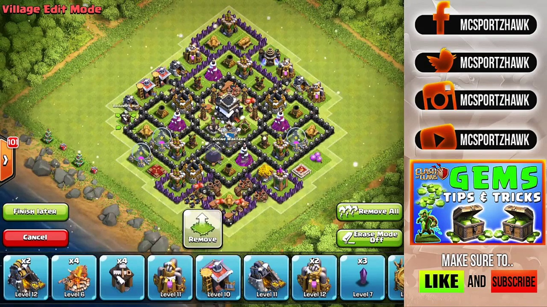 Clash of clans level 11 town hall defence