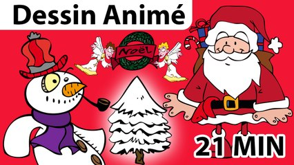 Chansons de Noël, 21 min de dessins animés