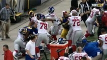 Rams and Giants Brawl After Late Hit on Odell Beckham Jr.