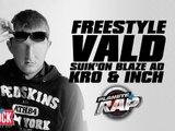 Freestyle de Vald, Suik'on Blaze AD, I.N.C.H & Kro en live dans Planète Rap