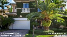 Single Family For Sale: 1295 HATTERAS LN Hollywood, FL $2350000