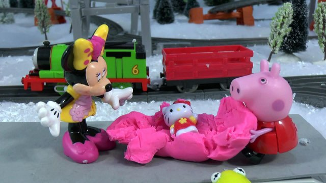 Peppa Pig Play Doh Shopkins Princess Anna Surprise Presents Toys Thomas and Friends Minnie Mouse