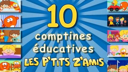 10 comptines éducatives - Compilation de 18 mns.
