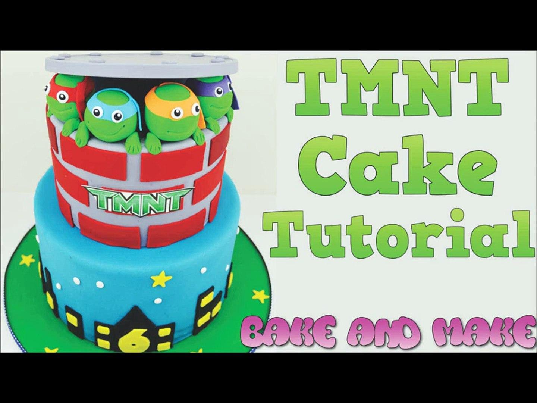 TMNT birthday cake tutorial Bake and Make with Angela Capeski How to make a cake