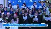 În R. Moldova tradițiiile românești continuă de sărbători. Zece ansambluri corale au creat magie la Festivalul Colinde, Colinde