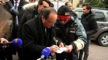 Hollande poursuit sa reconquête des Français à Saint-Pierre et Miquelon