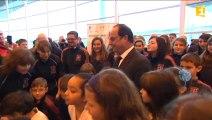 L'arrivée de François Hollande à Saint-Pierre