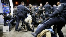 Police clash with protesters near Ferguson after black teen shot dead