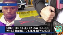 Concealed carry defense - teen Jawaad Jabar killed stealing Air Jordan sneakers in Dayton, Ohio.