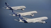 Airbus A380, A350 XWB and A330 - Flying Together In The Sky - HD