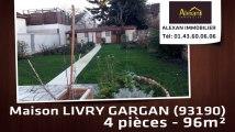 Vente - maison - LIVRY GARGAN (93190)  - 96m²