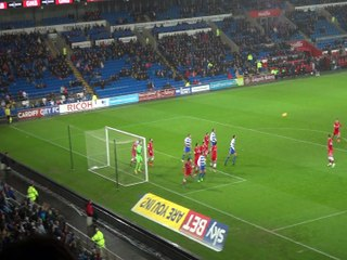 Micael Hector's goal Cardiff. Cardiff 2-1 Reading