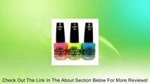 Mia Secret Glow In The Dark Neon Nail Lacquer Nail Polish 3pcs Set Neon Blue,Neon Hot Pink, Neon Yellow Review