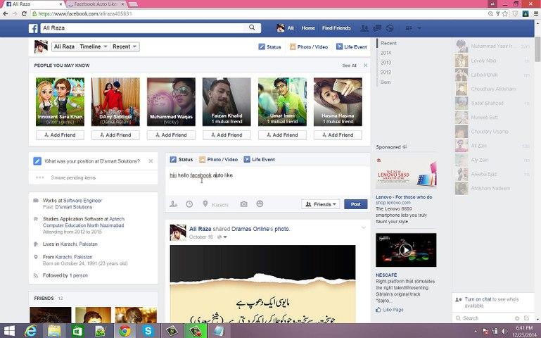 Auto-Liker Facebook - Facebook Auto Liker Auto Like Facbook Status