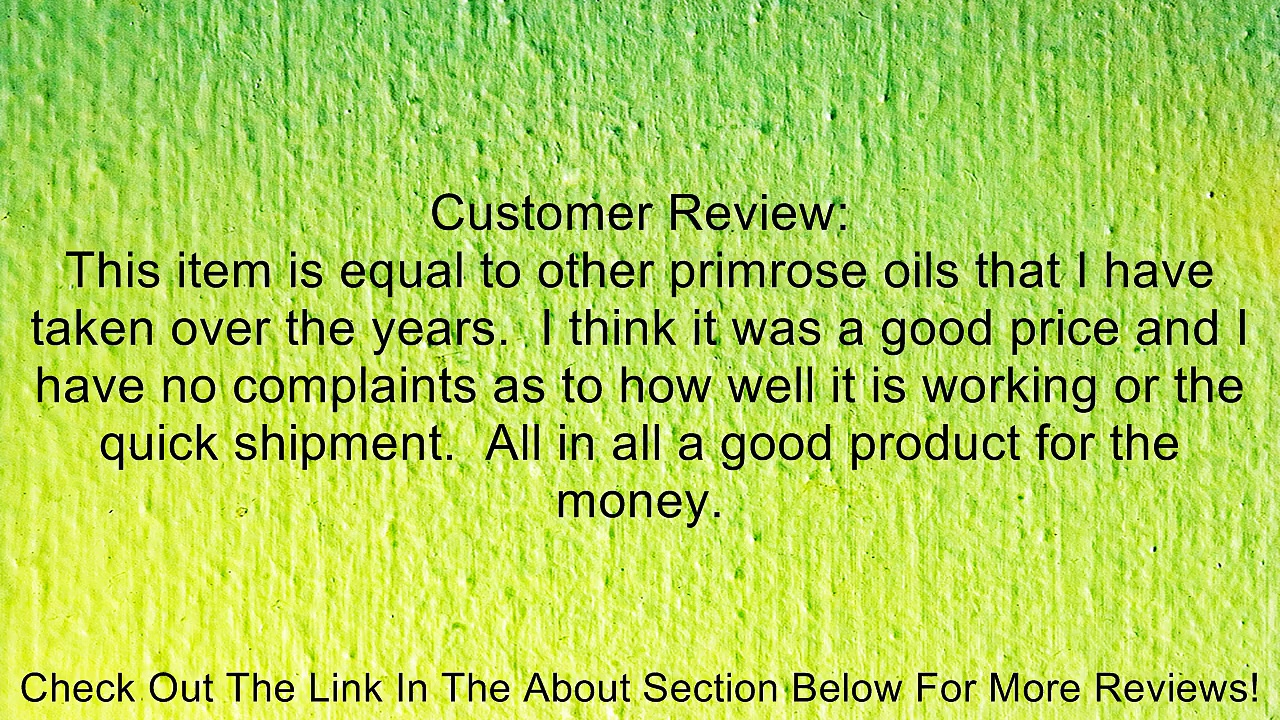 2 Bottles Evening Primrose Oil 500mg Cis-Linoleic Acid LA 365mg Gamma Linolenic Acid GLA 45mg 180 Total Softgels KRK Supplements Review
