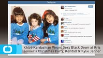 Khloé Kardashian Wears Sexy Black Gown at Kris Jenner's Christmas Party, Kendall & Kylie Jenner Sport White