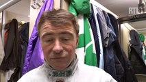 Franck Nivard, driver de Ready Cash (le 8) lors du Prix de Bourgogne