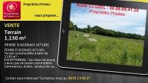 A vendre - terrain - PENNE D AGENAIS (47140) - 1 130m²
