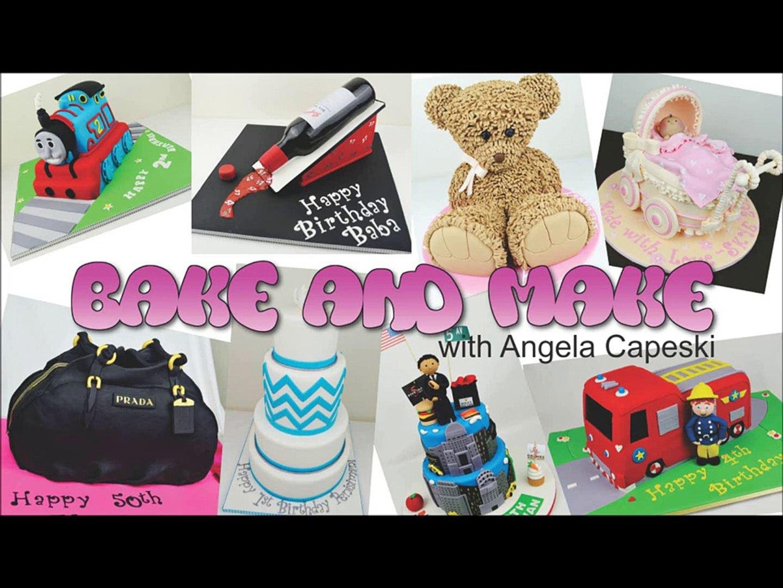 High Heel Stiletto cake tutorial. How to bake and make with Angela Capeski