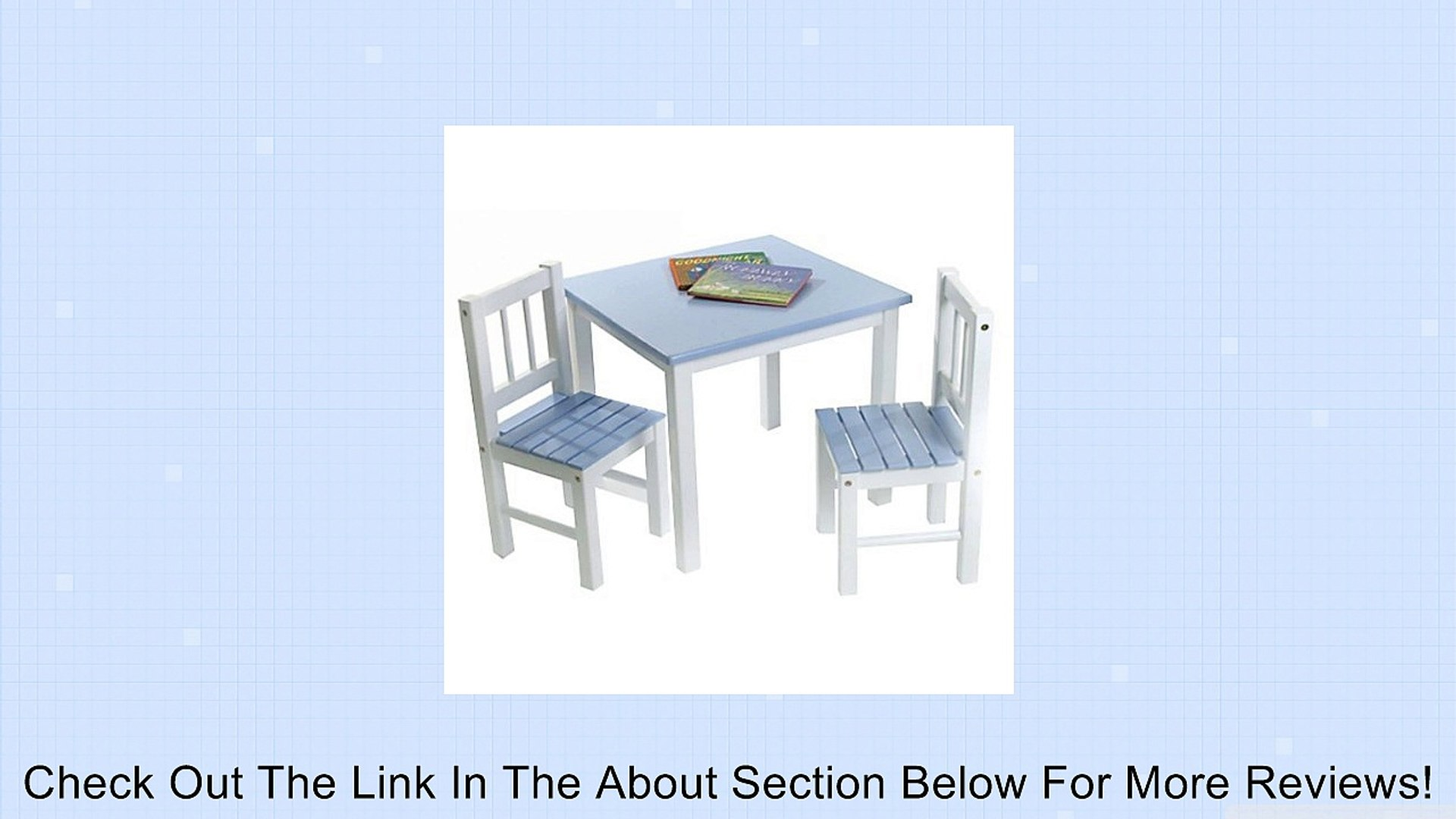 Lipper International 513bl Child S Table And 2 Chair Set Blue White Review