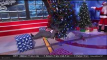 Shaquille O'Neal destroys Christmas Tree On Inside The NBA - Violent fall into the tree...