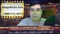 Georgetown Hoyas vs. Indiana Hoosiers Free Pick Prediction NCAA College Basketball Odds Preview 12-27-2014