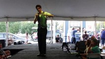 Drake Milligan chatting with the tent crowd Elvis Week 2014 video