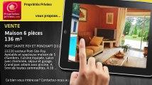 A vendre - maison - PORT SAINTE FOY ET PONCHAPT (33220) - 6 pièces - 136m²