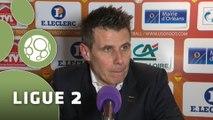 Conférence de presse US Orléans - Tours FC (2-1) : Olivier FRAPOLLI (USO) - Gilbert  ZOONEKYND (TOURS) - 2014/2015