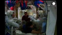 NASA astronauts ISS spacewalk to prepare docking ports
