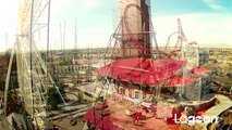 Cannibal Construction Update & POV Flyover @ Lagoon Park - New Roller Coaster Coming 2015! Utah