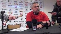 Rugby Top 14 - Christophe Urios réagit après Oyonnax - Castres (1ère partie)