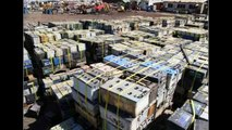 Recycling old batteries into solar cells. Recycling one single car battery can power 30 households.