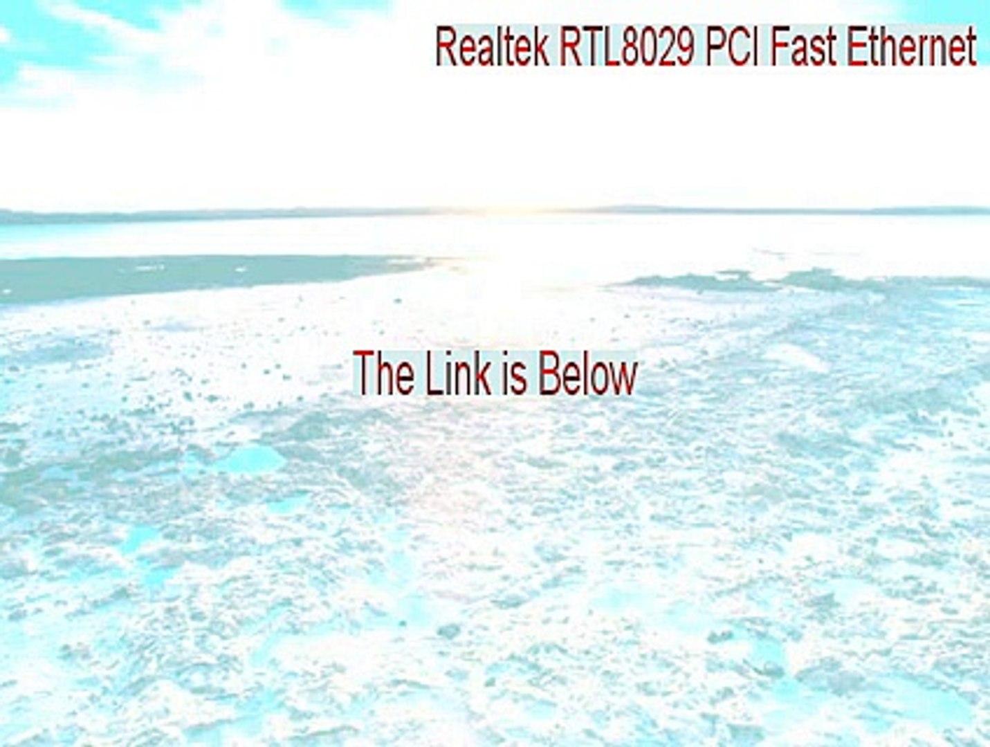REALTEK RTL8029 PCI ETHERNET WINDOWS DRIVER DOWNLOAD