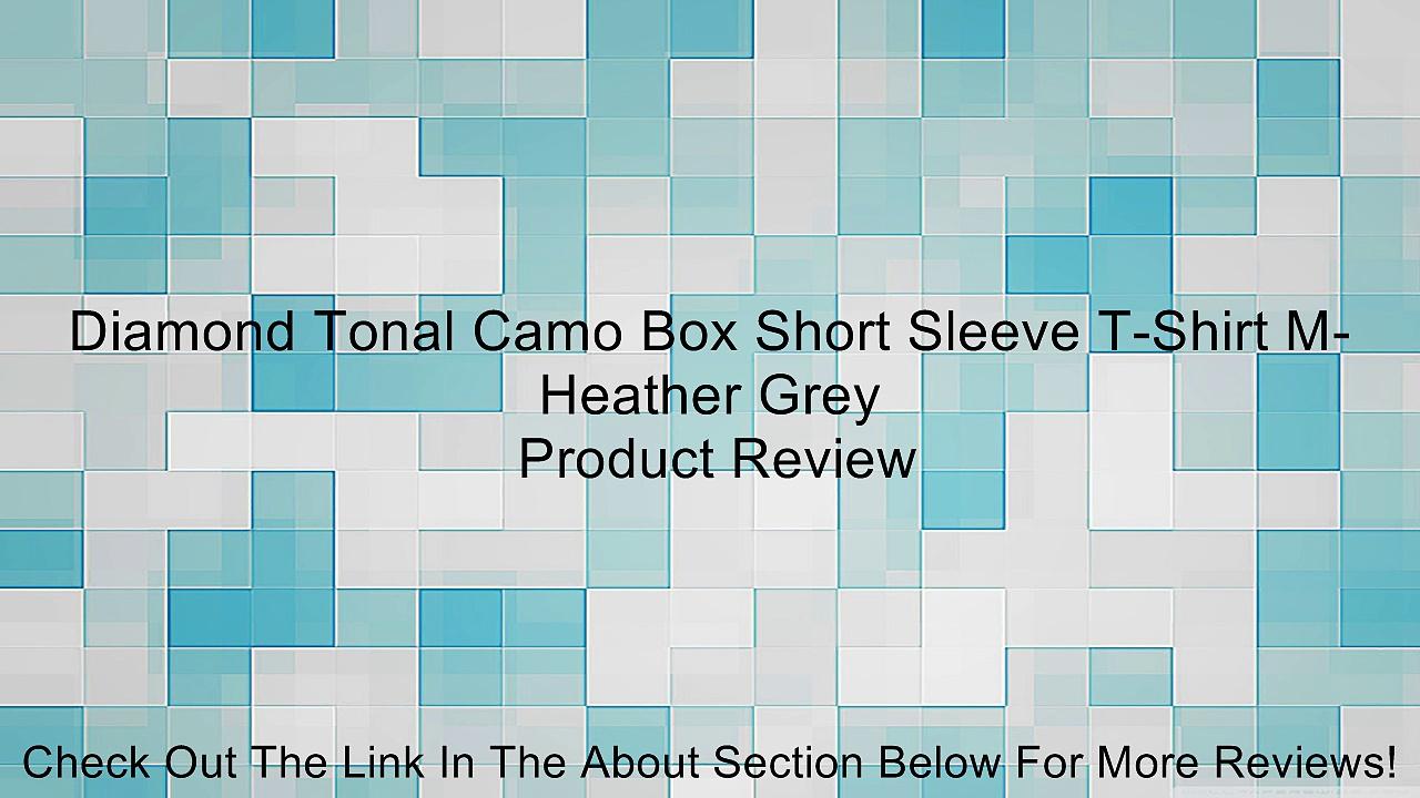 Diamond Tonal Camo Box Short Sleeve T-Shirt M-Heather Grey Review
