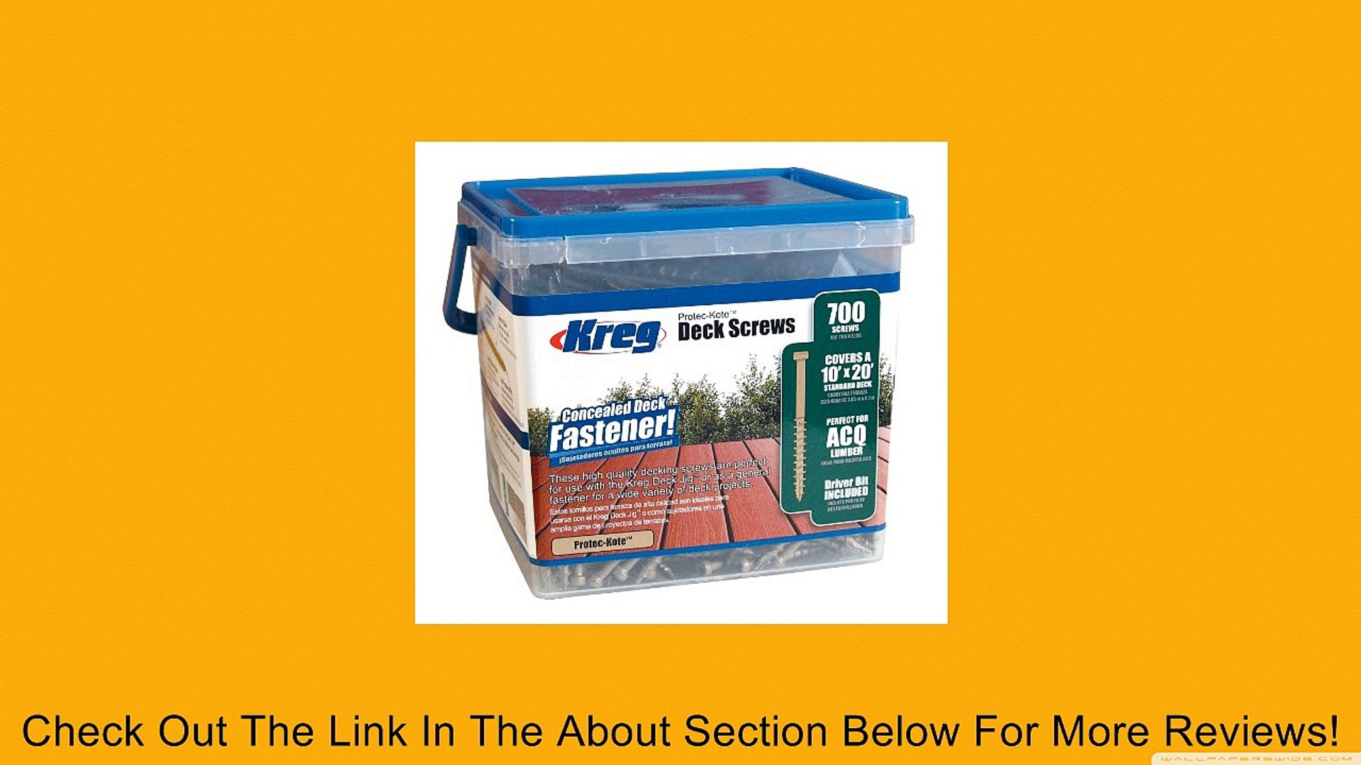 100 Ct Deck Screw KREG SDK-C2W-100 2-Inch 8 Coarse