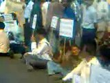 Strike at Link Road NH5 Cuttack for Ind Vs Pak Womens Worldcup At Barabati Stadium, Cuttack