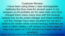 Tenergy 4 pcs Premium C Size 5000mAh High Capacity High Rate NiMH Rechargeable Batteries Review