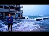 Fanny chute à Saint Malo grandes marées Vendredi 20 Février 2015