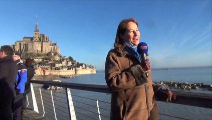 Grandes marées - visite de Ségolène Royal au Mont-Saint-Michel - dimanche 22 février 2015