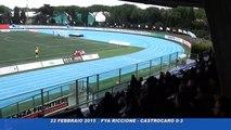 Icaro Sport. Fya Riccione-Castrocaro 0-3, servizio e dopogara