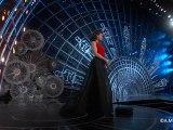 John Travolta jokes with Idina Menzel on Oscars 2015 stage